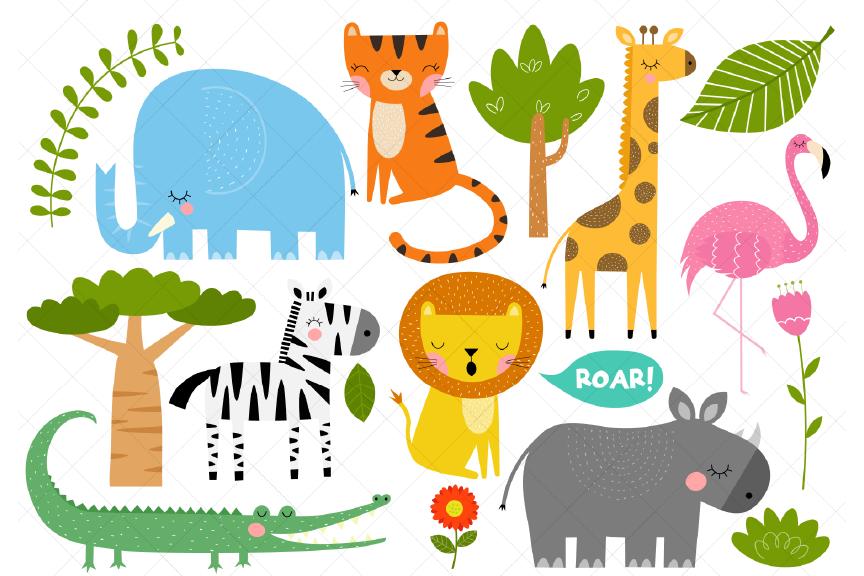 African Animals Clipart, Safari Animals.
