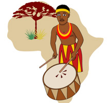 African Music Clipart.