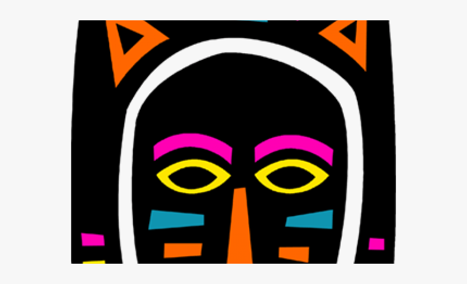 Africa Clipart Colorful Mask.
