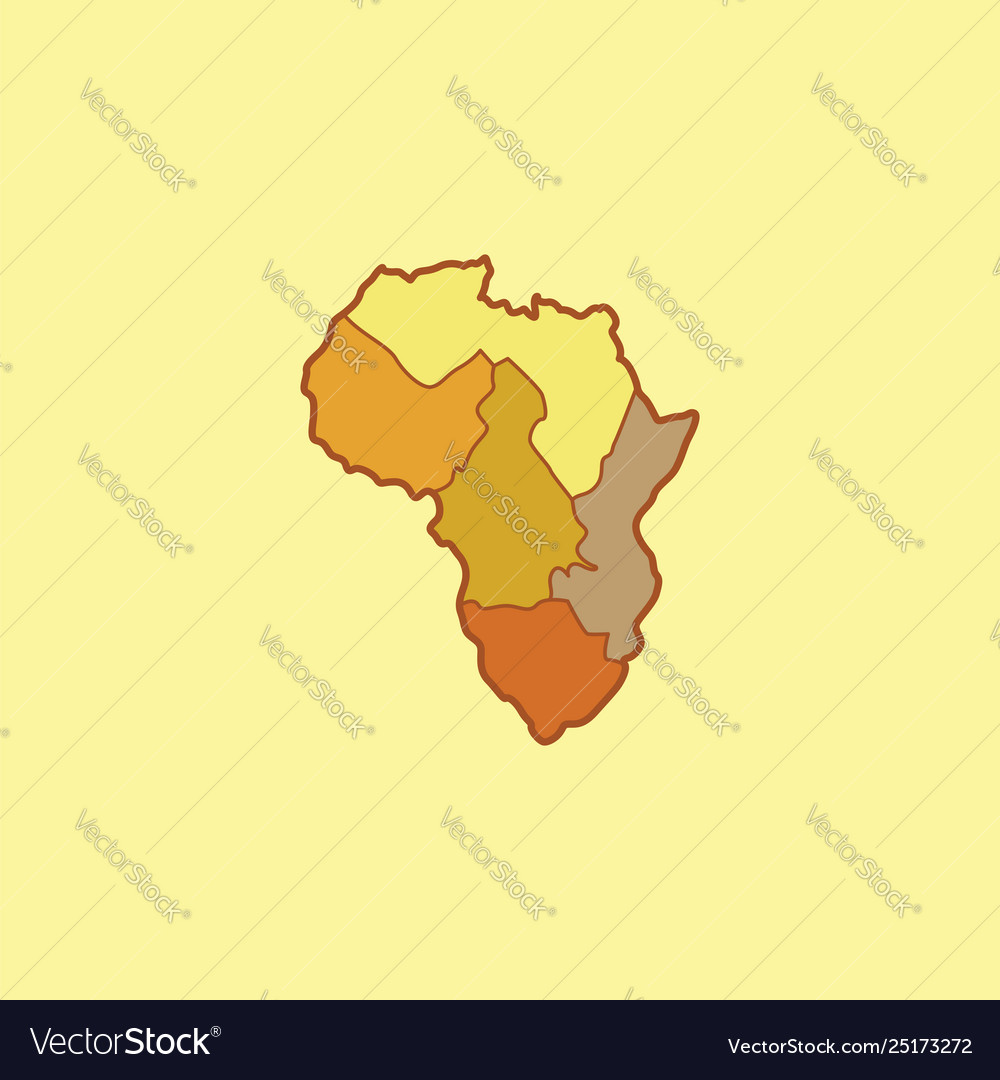 Clipart africa mapafrican continent or color.