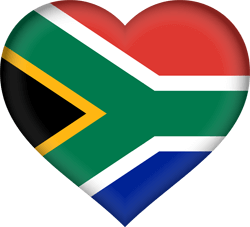South Africa flag clipart.