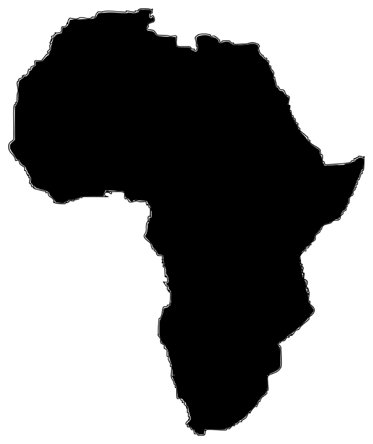 Africa Map , Africa s, black map illustration PNG clipart.