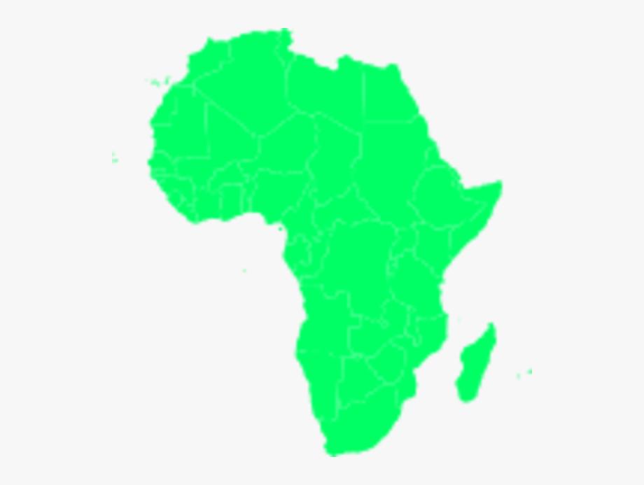 African Continent Vector Clip Art.