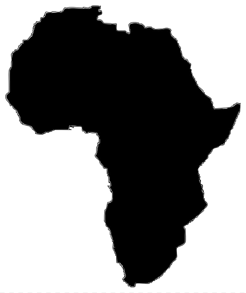 Black map illustration, Africa Map , Africa transparent.
