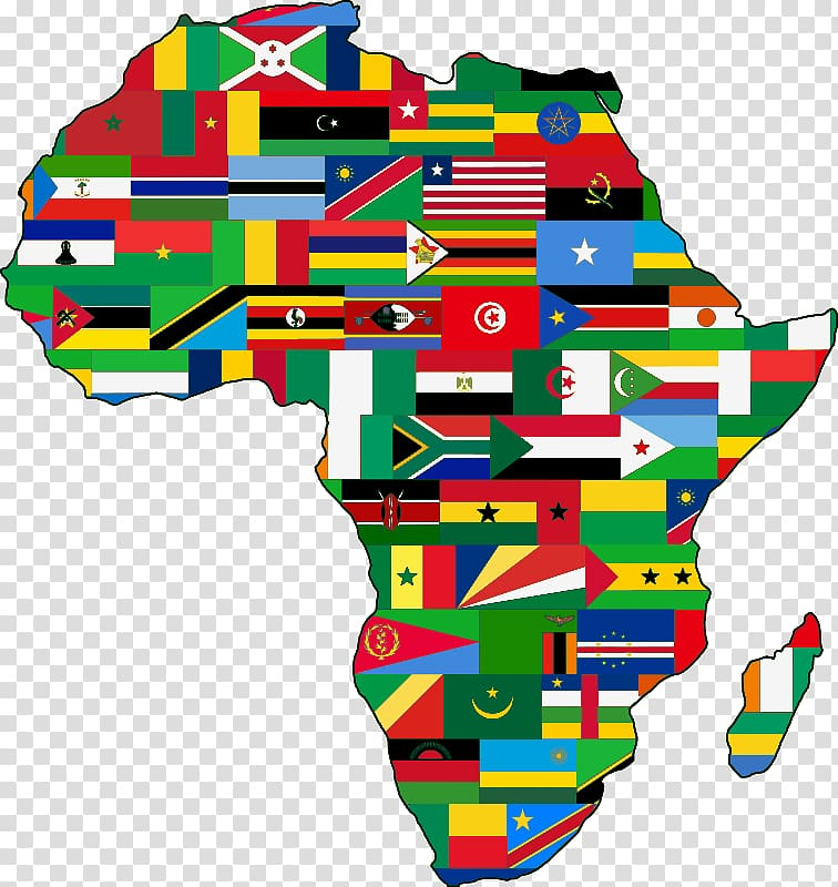 Flag of South Africa Map , Africa transparent background PNG.
