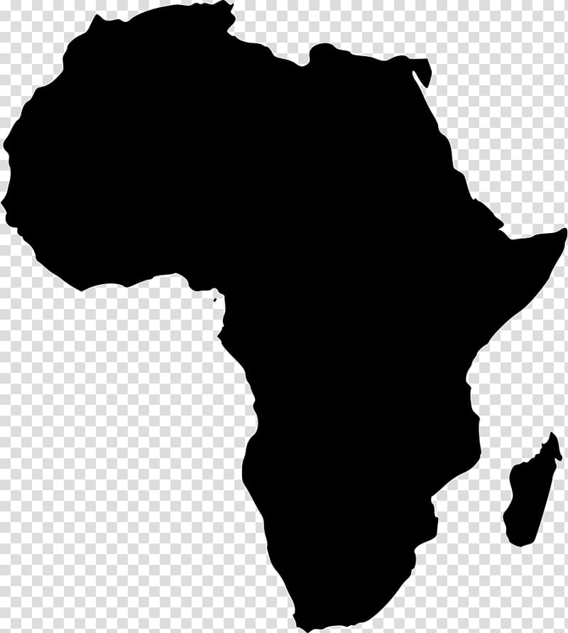 Africa Blank map, Africa transparent background PNG clipart.