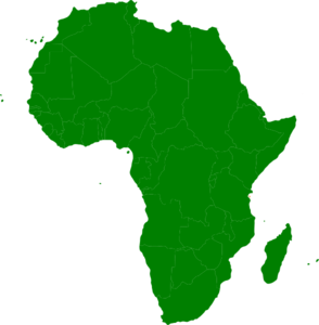 Montessori Africa Continent Map Clip Art at Clker.com.