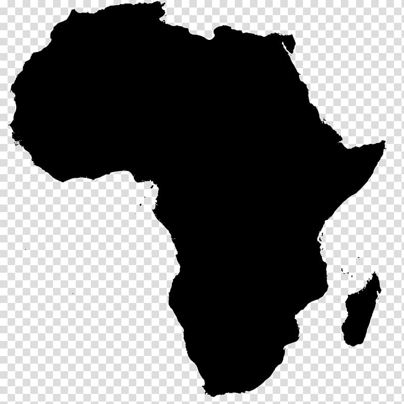 Black land illustration, Africa Map Continent Computer Icons.