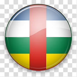 Africa Mac, round country flag illustration transparent.