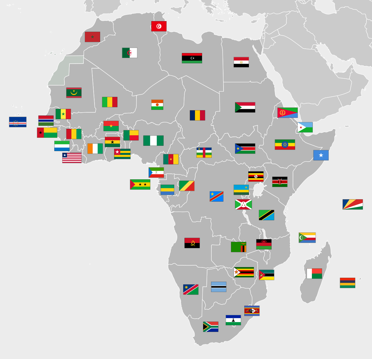 Flags of Africa.