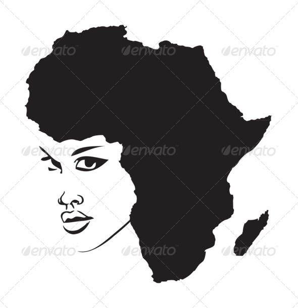 Face of Africa #GraphicRiver Face of Africa vector template.