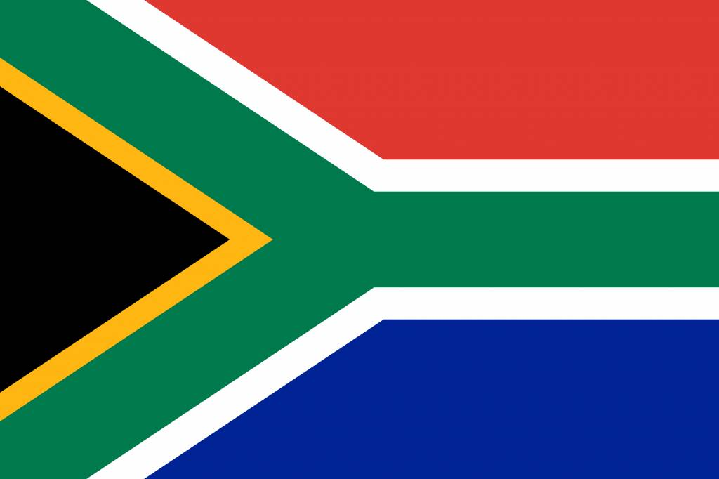 South Africa flag icon.
