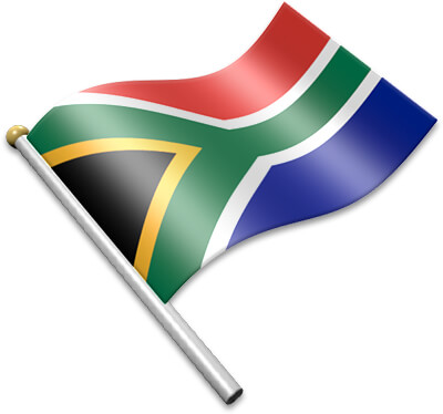 Flag Icons of South Africa.