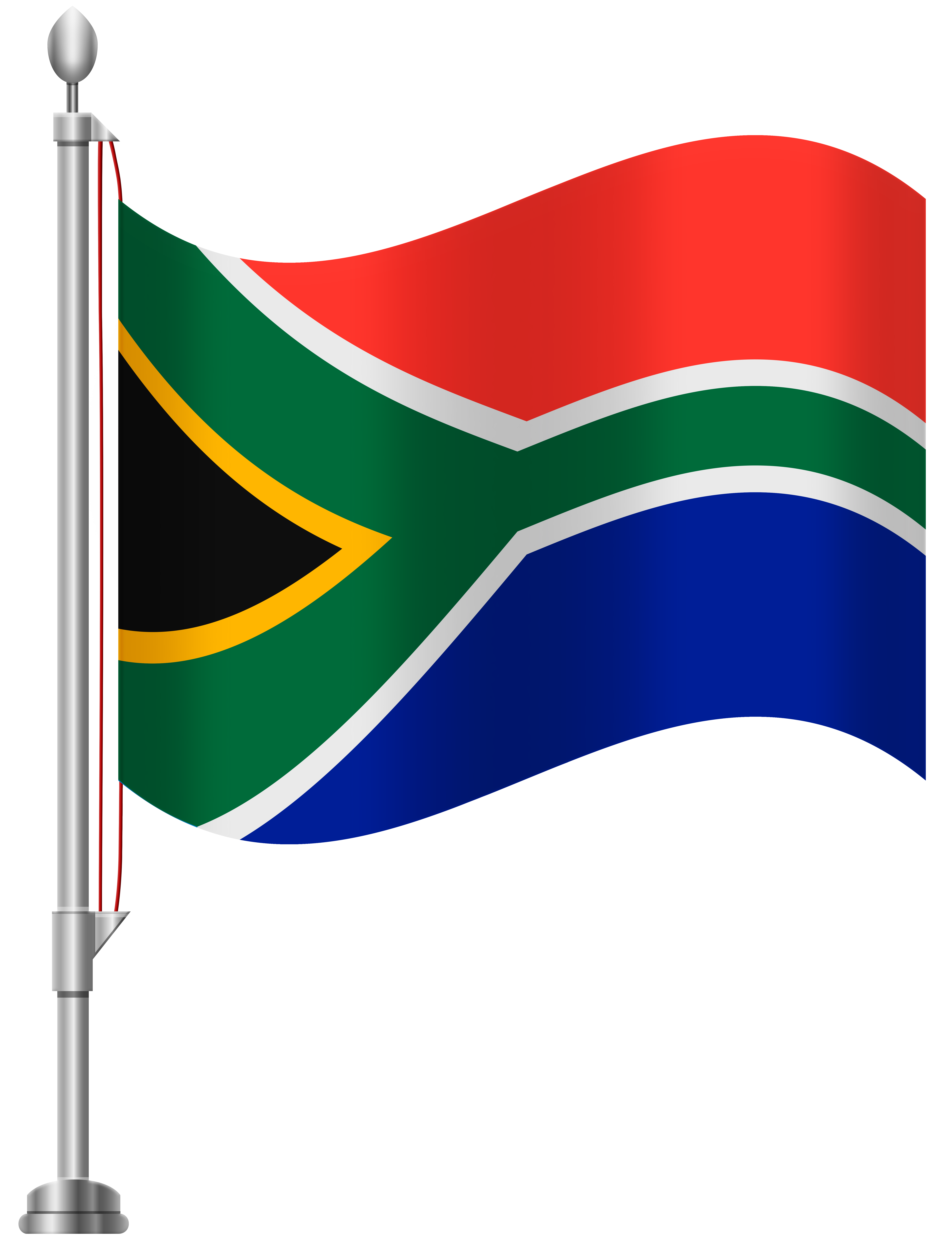 South Africa Flag PNG Clip Art.