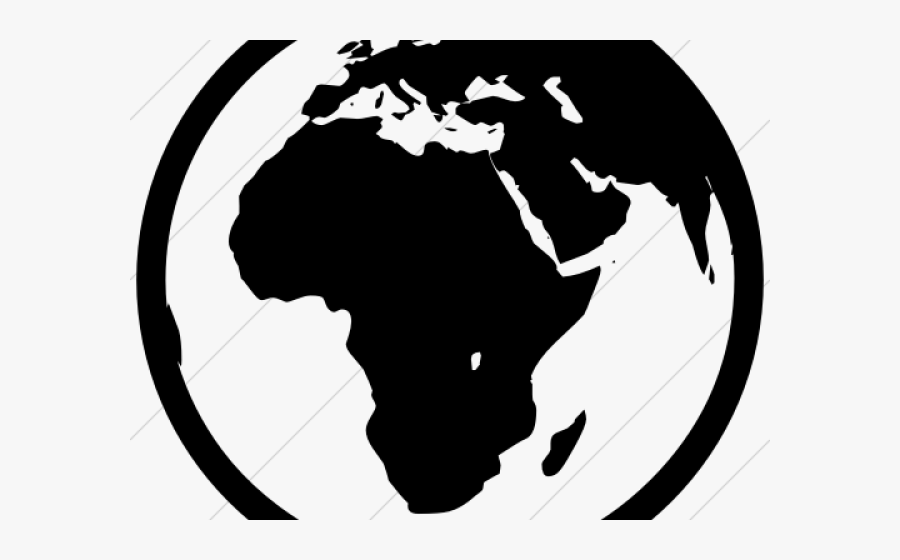 Transparent Earth Clipart Black And White.