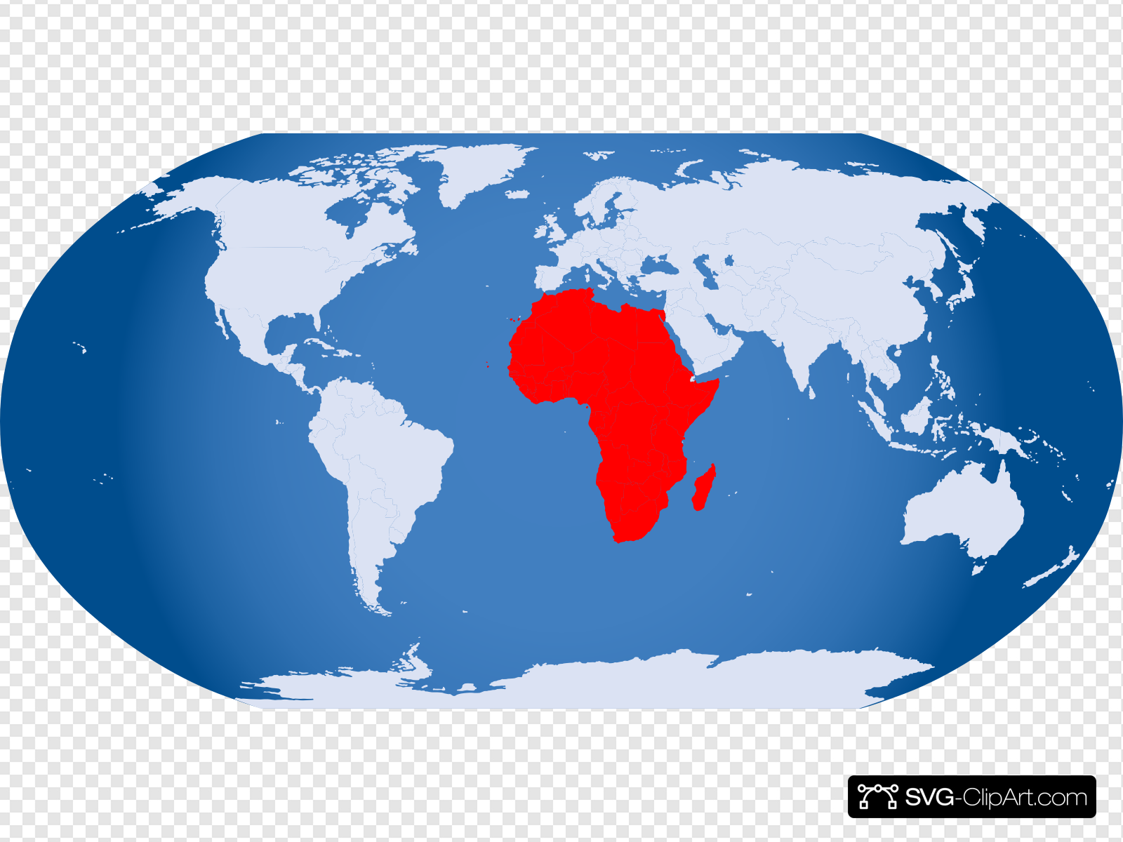 World Globe Highlight Africa Clip art, Icon and SVG.