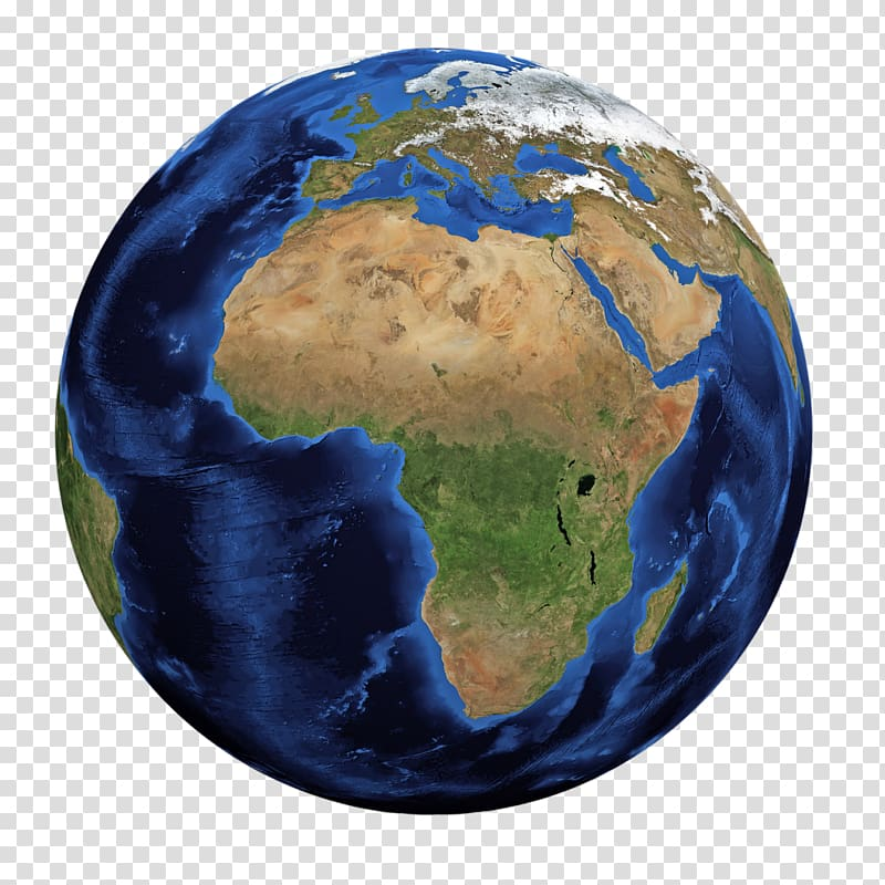 Globe Earth Africa World map, earth day transparent.