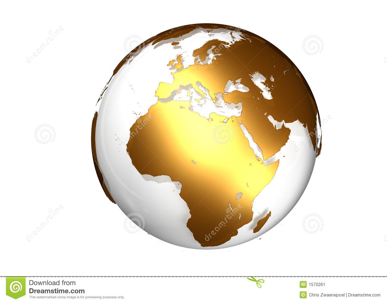 Africa Globe Clipart.