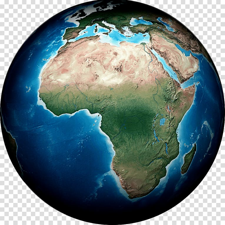 Earth Continent Globe Map South Africa, earth transparent.