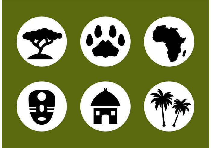 African Vector Icon Set.