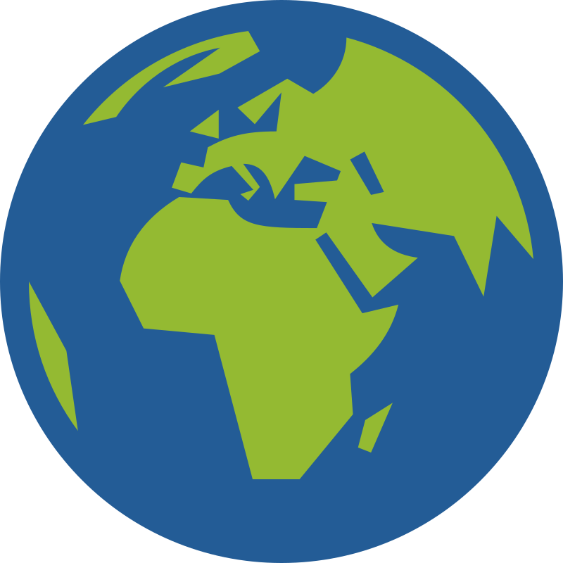 Globe Icon Facing Europe And Africa Clipart Icon PNG.
