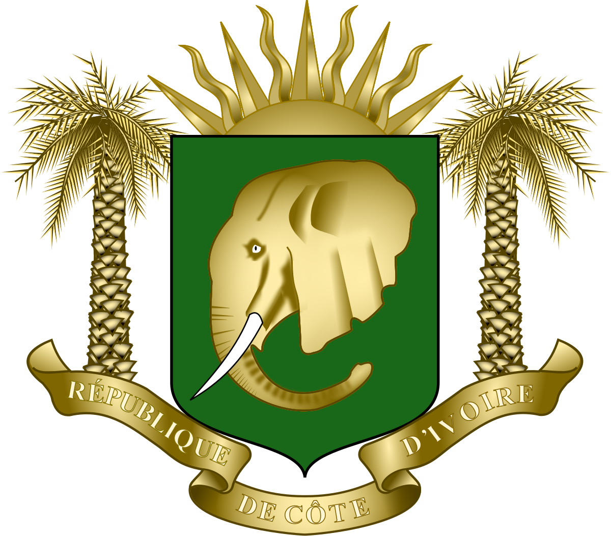 Coat of arms of Ivory Coast.