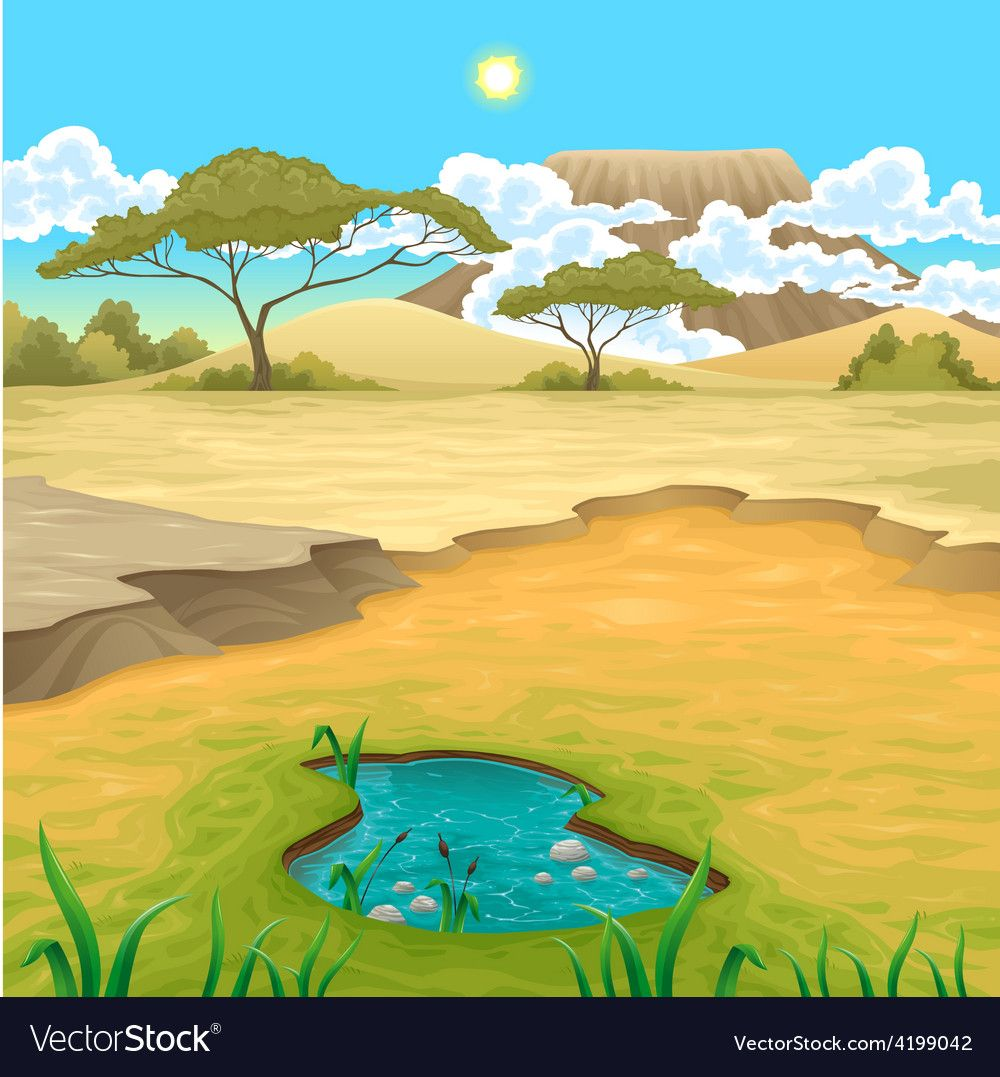 African landscape Royalty Free Vector Image.