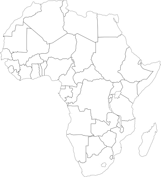 Africa Political Map clip art Free vector in Open office.