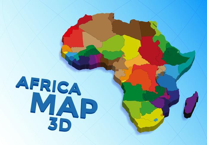 Africa Map Vector.