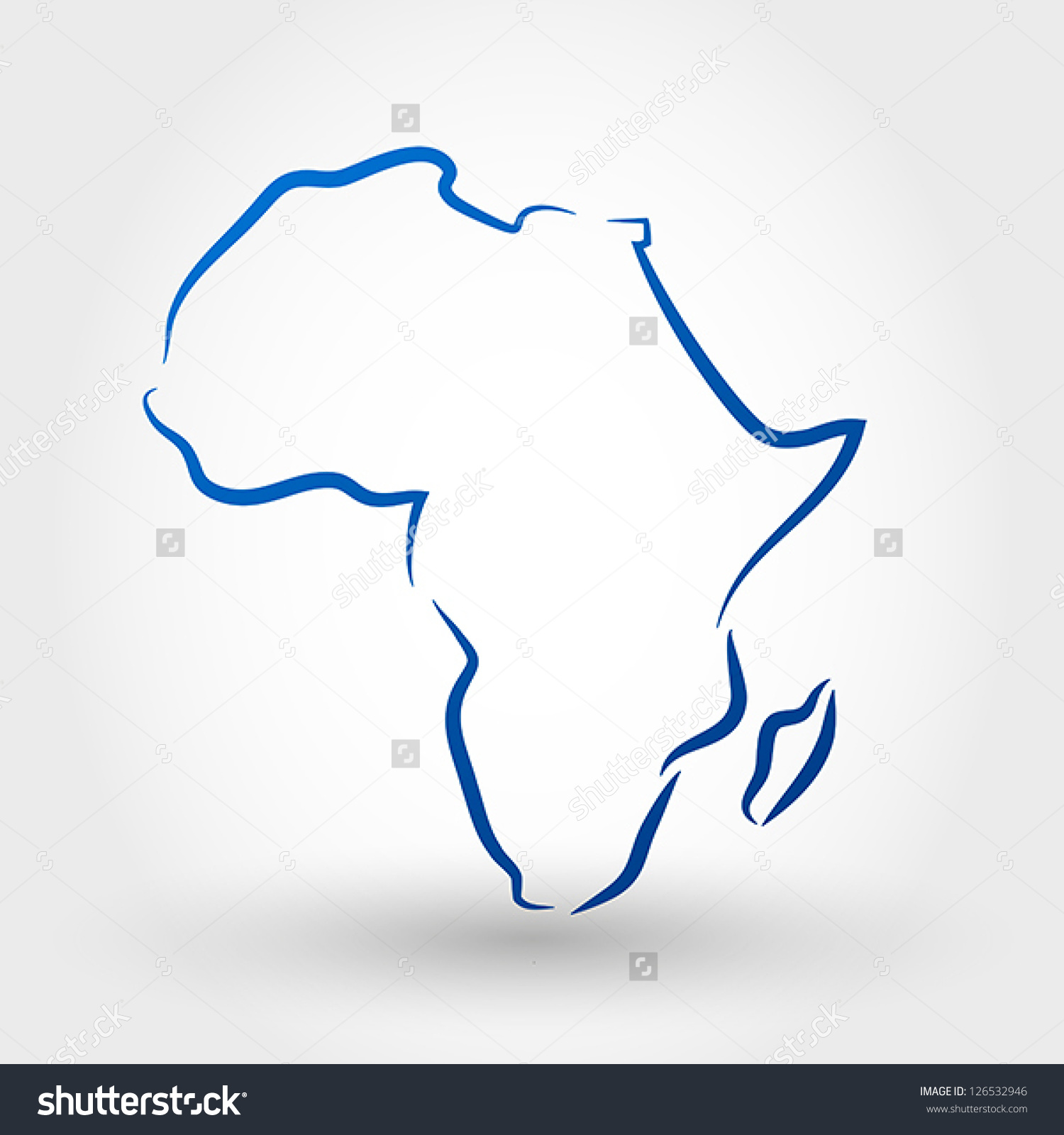 Africa Map Drawing.
