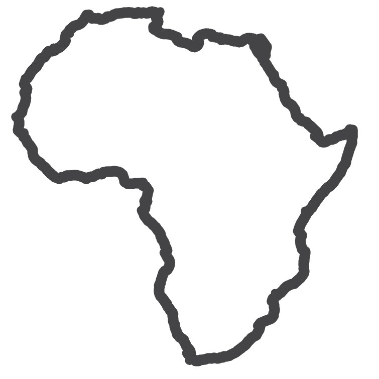 Outline Of Africa.