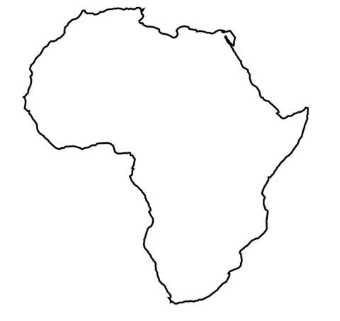 Africa outline map.