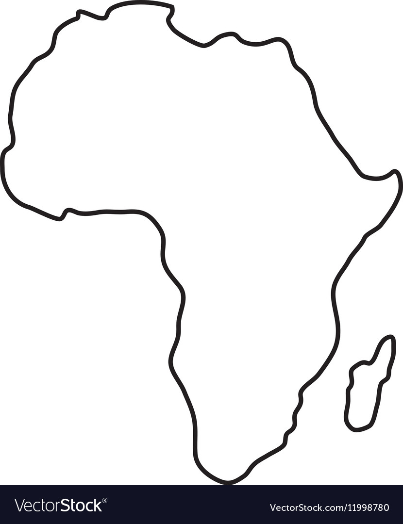 Africa map silhouette.