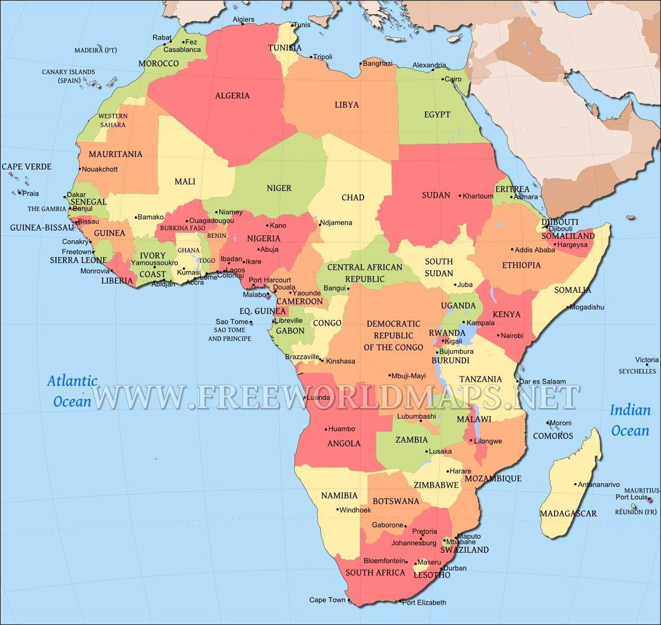 africa map.