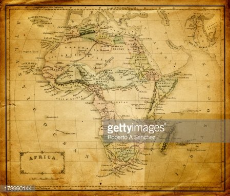 old map of africa Clipart Image.