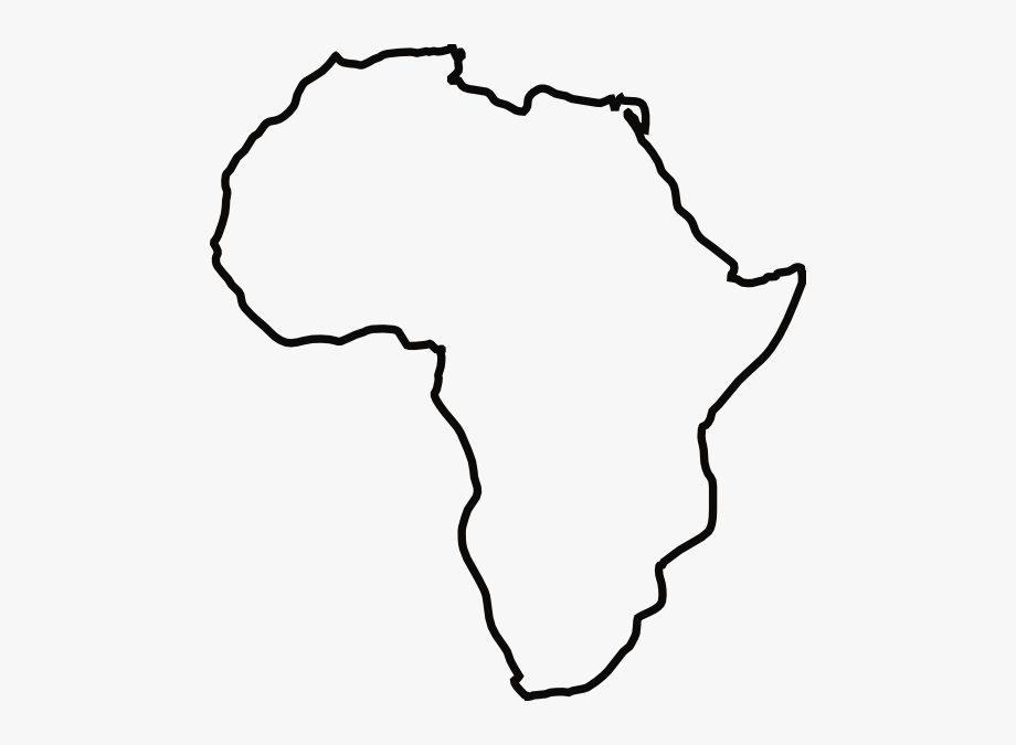 Africa Black And White Clipart.