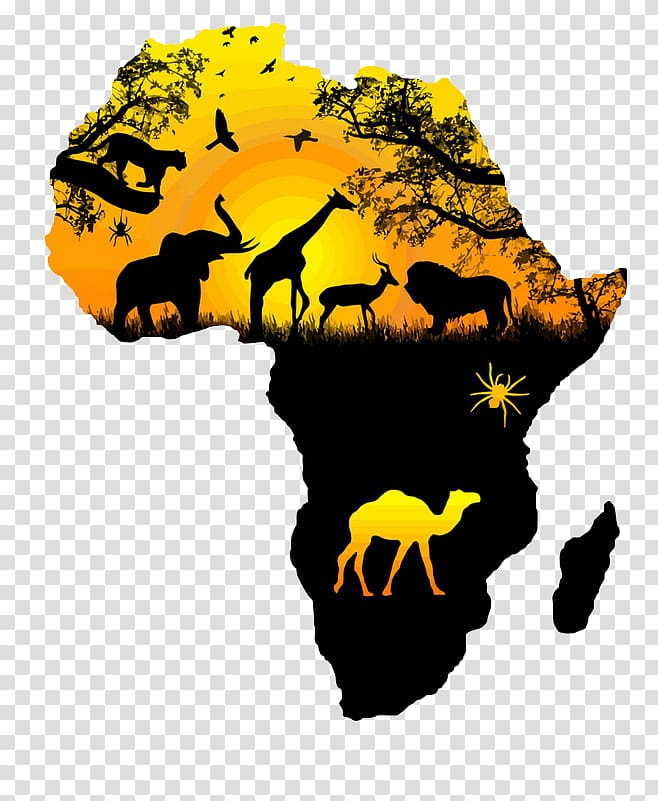 Africa map illustration, Africa Wall decal Sticker, map.