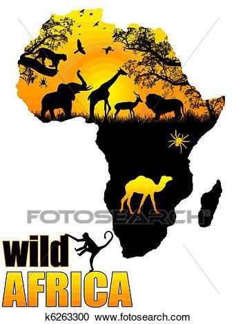 Wild Africa poster Clipart in 2019.