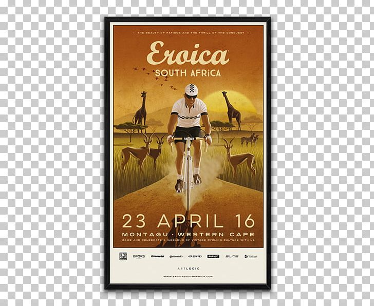 South Africa Poster Bicycle Cycling Eroica Britannia PNG.