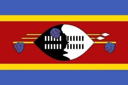 Flag Sign Africa Signs Symbols Flags United Swaziland.