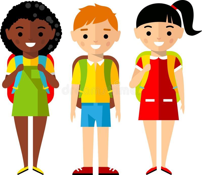 African American Children In School Clipart.