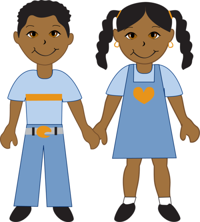 African American Children In School Clipart.