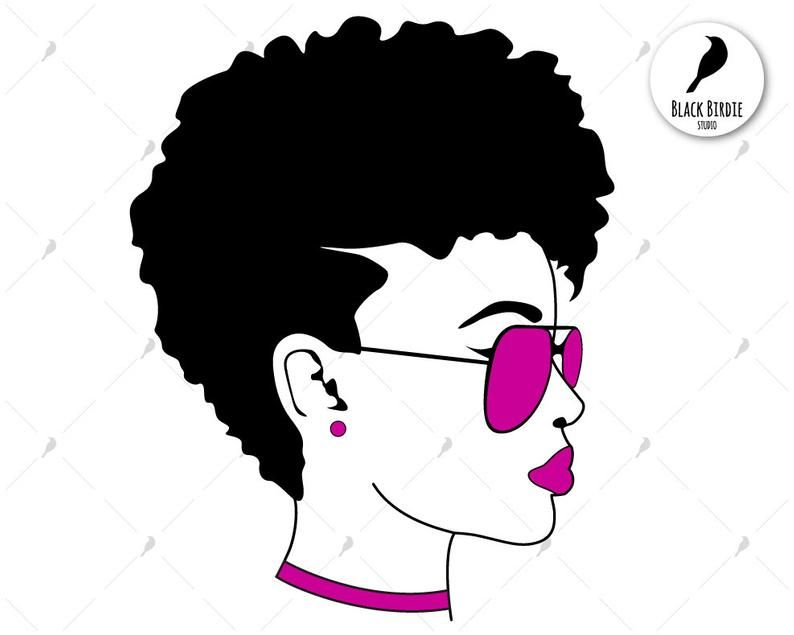 Black woman svg black woman clipart sunglasses svg shades.