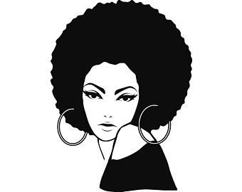 Afro Woman svg Princess Queen Afro Hair Beautiful African.