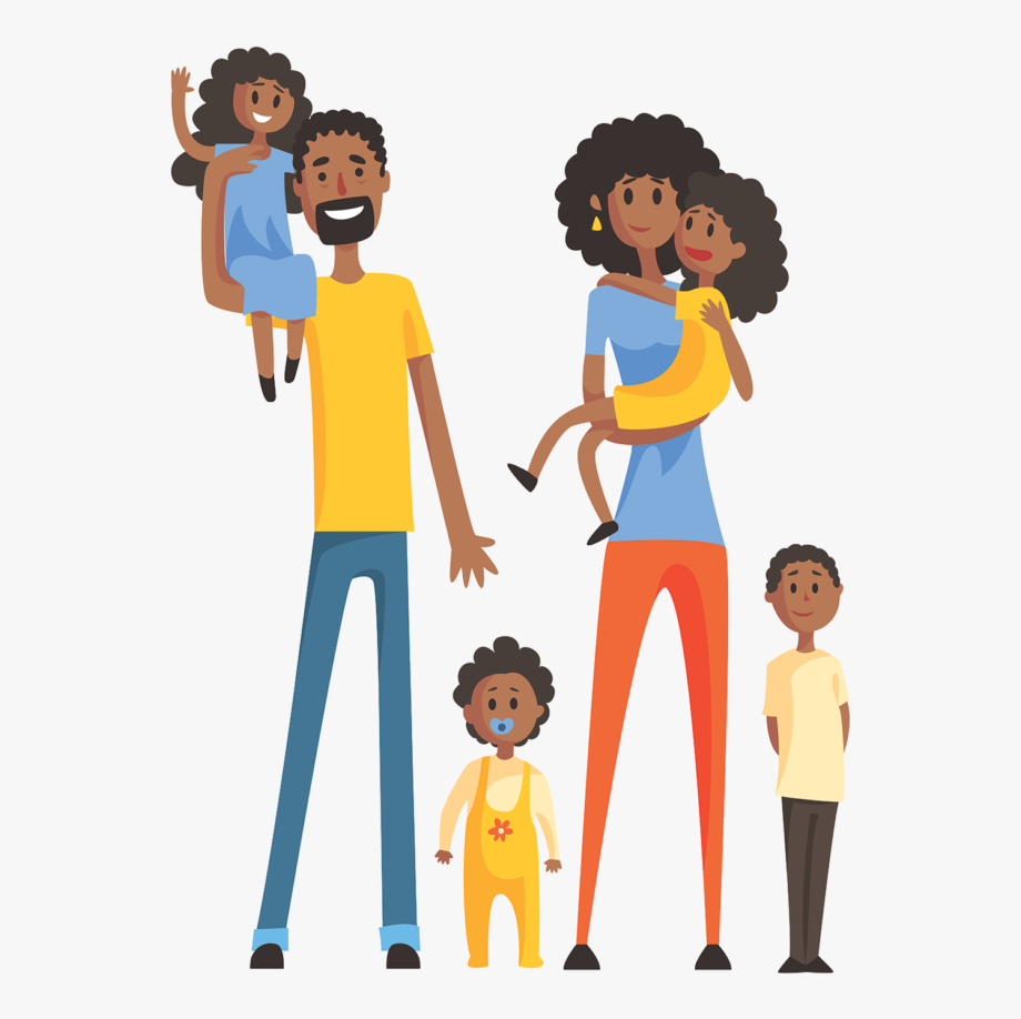 Family African American Clip Art.