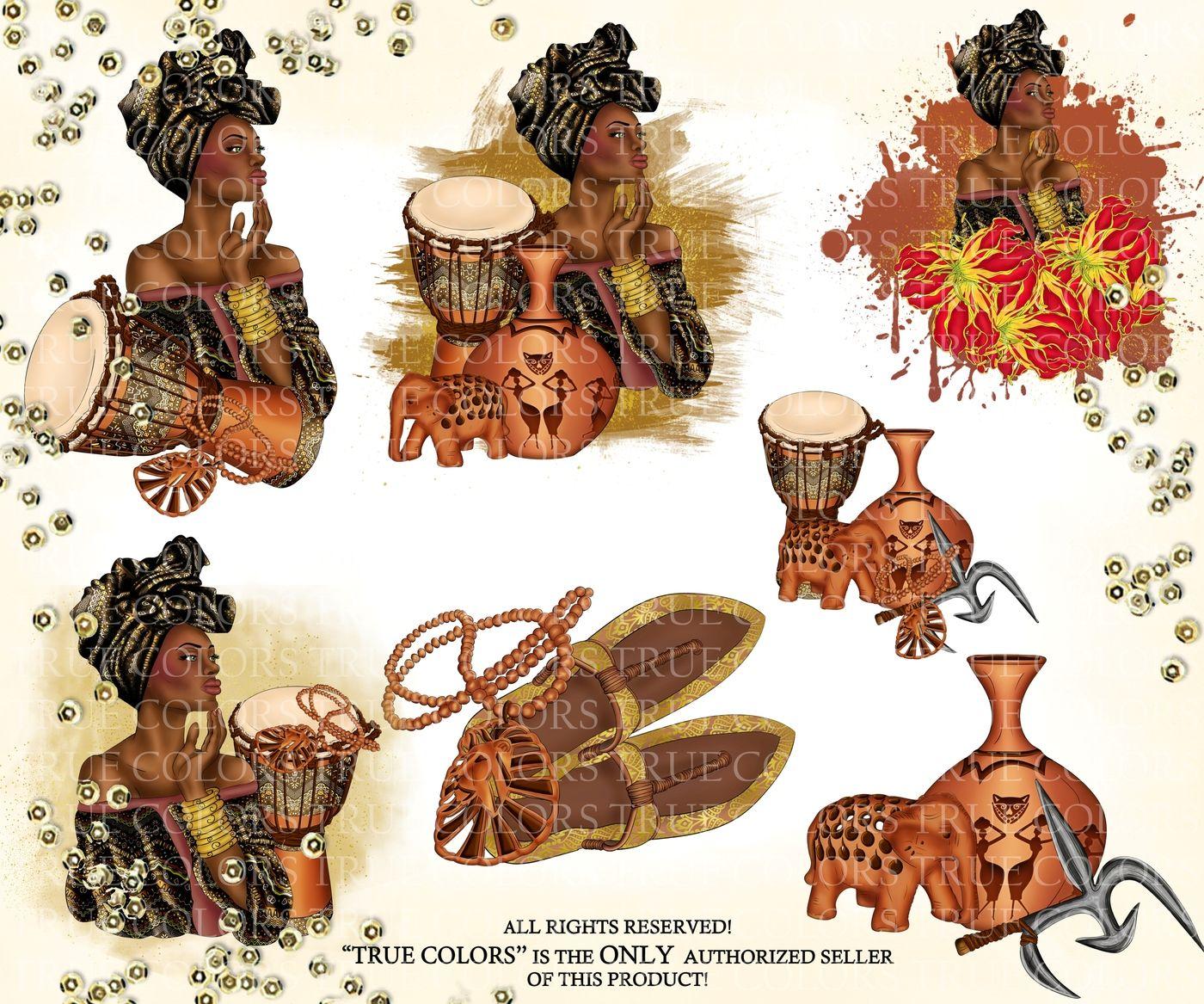 African American Princess Clip Art Beautiful Black Woman.