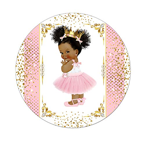 Little Princess Labels Baby Shower Favor Stickers, Set of 40 African  American Princess Royal Birthday Stickers.