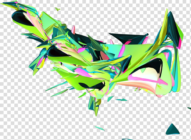 RedfoxGfx effekt Cd , green and black abstract painting.