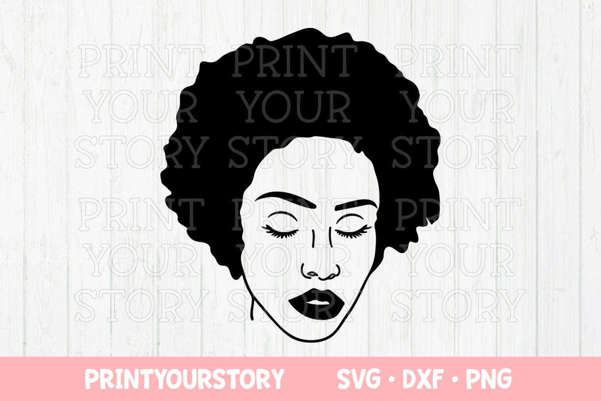 Afro Girl Clip Art.