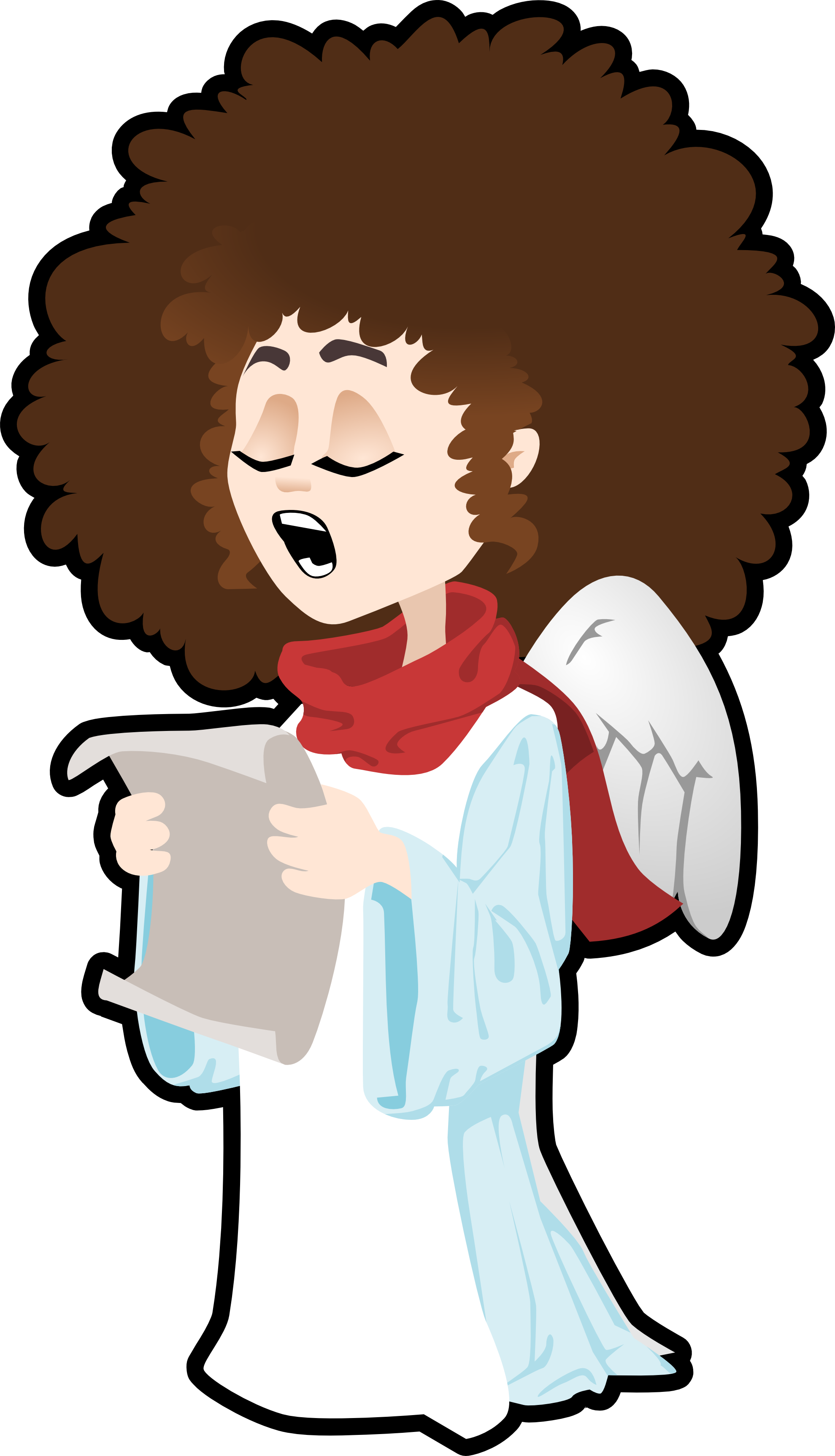 African American Angels Clip Art free image.